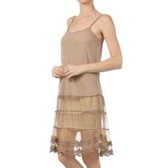 Women's Mesh/Lace Trim Slip