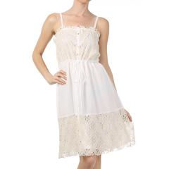 Women's Crinkle Lace Panel Dress