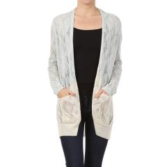 Women's Long Sleeve Ombre Cardigan