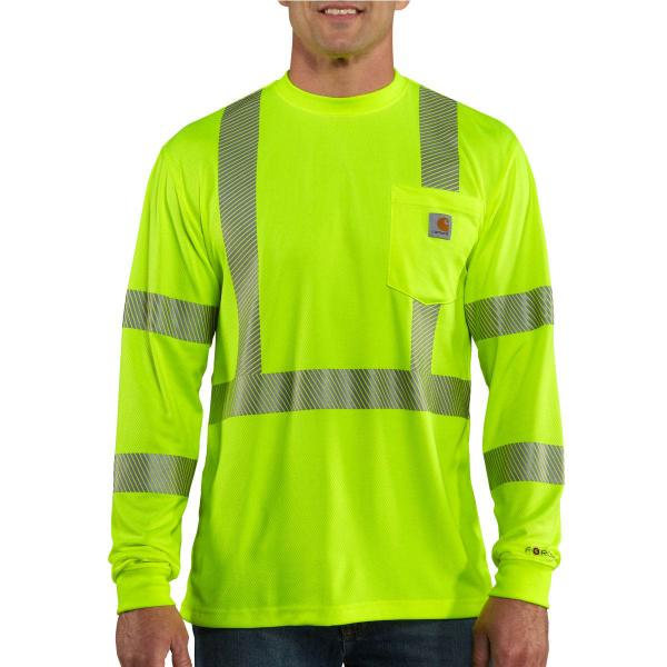 Carhartt Men's High-Visibility Long Sleeve Class 3 T-Shirt