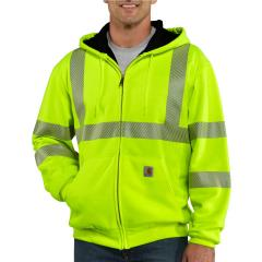 Carhartt Men's High-Visibility Zip-Front Class 3 Thermal-Lined Sweatshirt