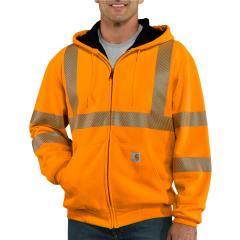 Men's High-Visibility Zip-Front Class 3 Thermal-Lined Sweatshirt