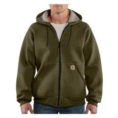 Men's Car Lux Zip Front Hooded Sweatshirt