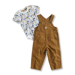 Infant Boys' Down On the Farm Bib Overall Set