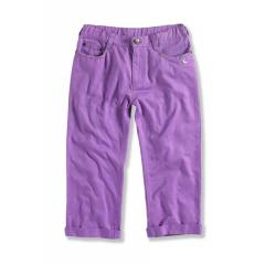 Girls' Twill Roll Up Cropped Pant