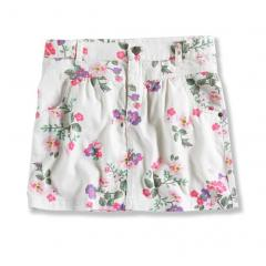 Girls' Printed Twill Skirt