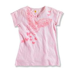 Girls' Short Sleeve Roll Up Sleeve Top