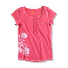 Girls' Short Sleeve Henley Top