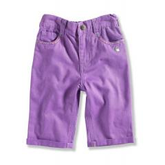 Toddler Girls' Twill Roll Up Cropped Pant