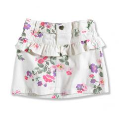 Toddler Girls' Printed Twill Skirt with Bloomer