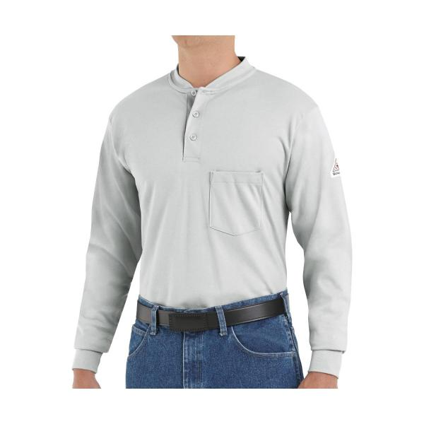 Bulwark Men's 6.25 Ounce LS FR Interlock Henley