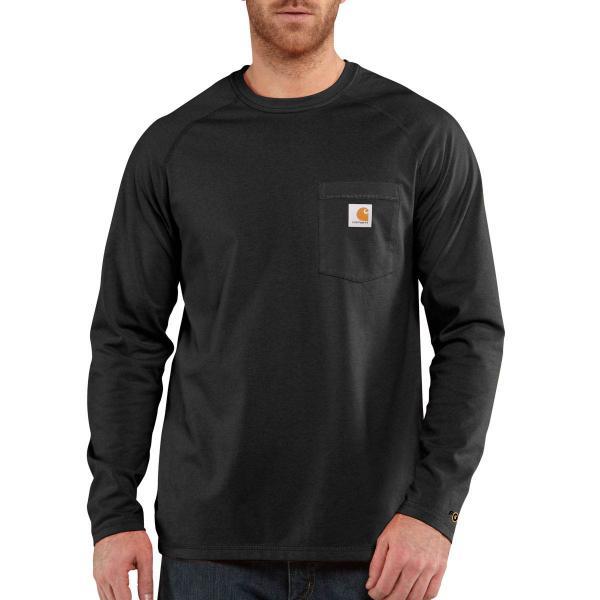 Carhartt men 39 s force cotton delmont long sleeve t shirt for Carhartt men s chamois long sleeve shirt