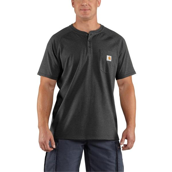 Carhartt Men's Force Cotton Short-Sleeve Henley