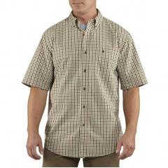 Men's Essential Plaid Button Down Short Sleeve Shirt