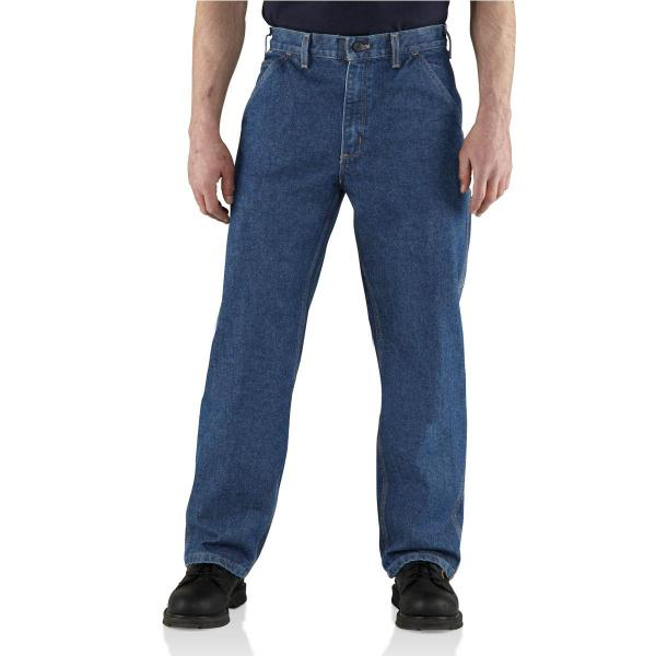 Carhartt Men's Flame-Resistant Utility Denim Dungaree Jean