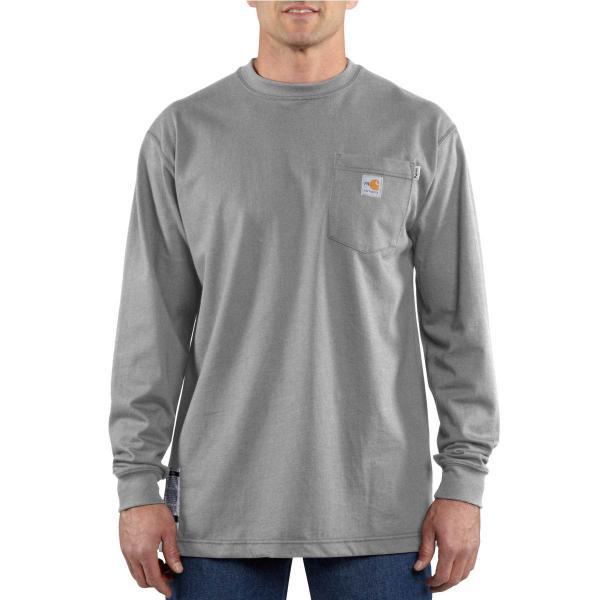 Carhartt Men's Flame-Resistant Force Cotton Long-Sleeve T-Shirt