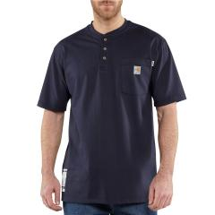 Carhartt Men's Flame-Resistant Force Cotton Short Sleeve Henley
