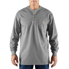 Carhartt Men's Flame-Resistant Force Cotton Long Sleeve Henley