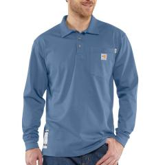 Men's Flame-Resistant Force Cotton Long Sleeve Polo