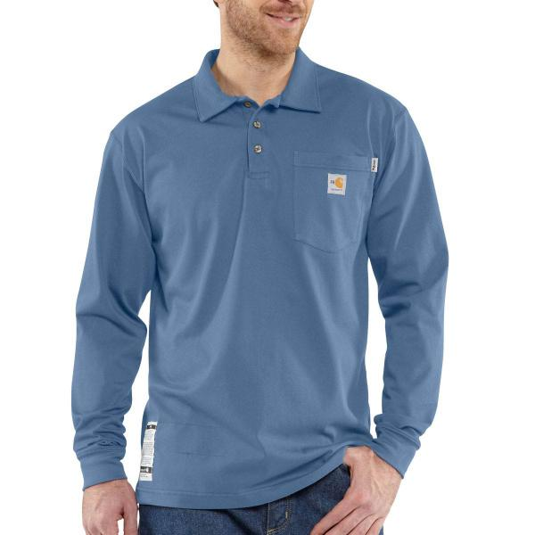 Carhartt Men's Flame-Resistant Force Cotton Long Sleeve Polo
