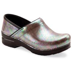 Women's Professional Silver Opal Leather