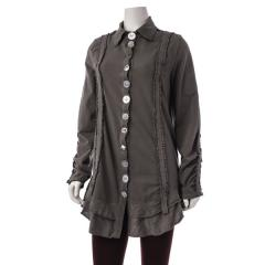 Women's Ethic Ruffle Car Jacket