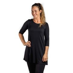 Comfy USA Women's Three Quarter Sleeve Tunic Top