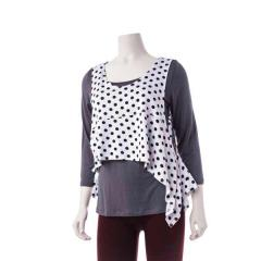 Women's Crop Vest Dot