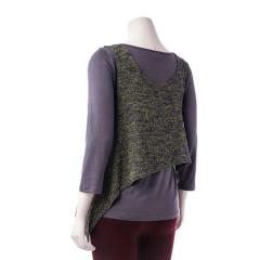 Women's Crop Vest Sweater Knit