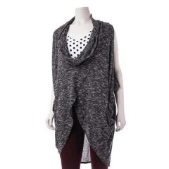 Women's Cowel Neck Vest Sweater Knit