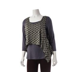 Women's Crop Vest Dot Extended Size
