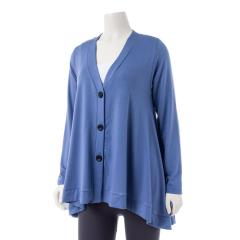 Women's Three Button Cardigan Extended Size