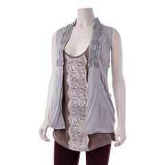 Women's Pocket Ruffle Vest