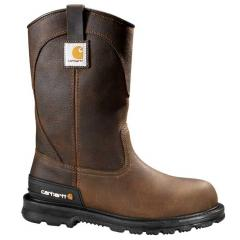 Carhartt Men's 11 Inch Dark Brown Unlined Wellington Non Safety Toe