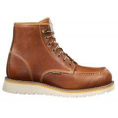 Men's 6 Inch Tan Wedge Boot Non Safety Toe