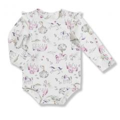 Infant Girls' Printed Long Sleeve Bodyshirt