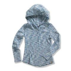 Girls' Long Sleeve Space Dyed Stripe Hoodie