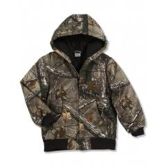 Boys' Work Camo Active Jacket - Quilted Flannel Lined