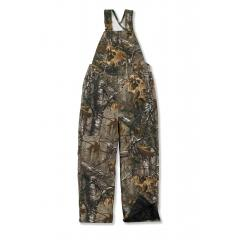 Boys' Washed Work Camo Bib Overall - Quilt Lined