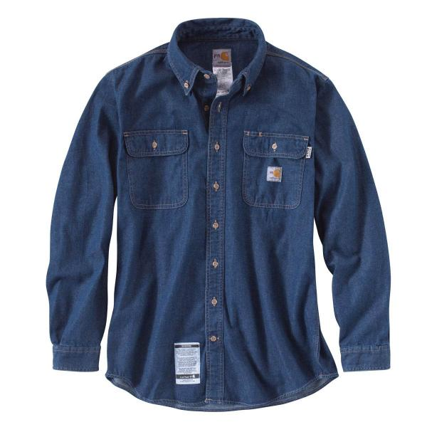 Carhartt Men's Flame-Resistant Washed Denim Shirt