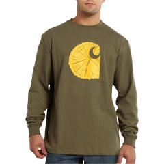 Men's Graphic Tree Stump Long-Sleeve T-Shirt - Discontinued Pricing