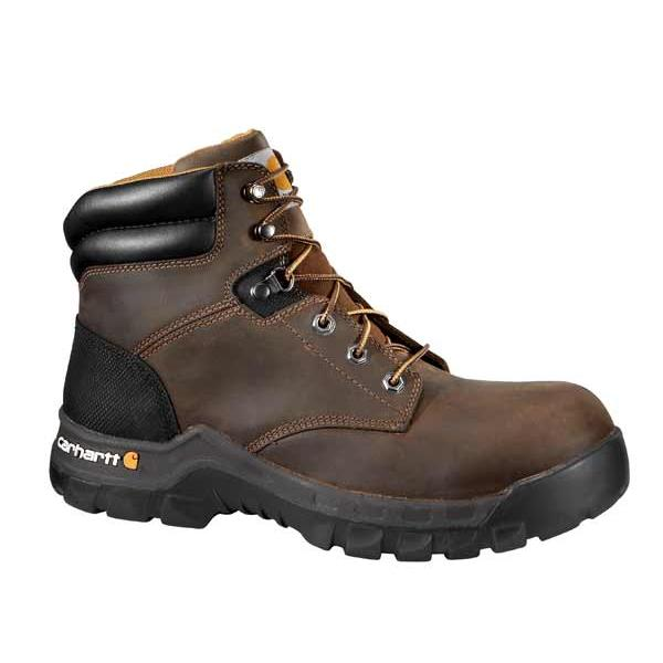 Carhartt Men's 6 Inch Brown Rugged Flex Work Boot Non Safety Toe