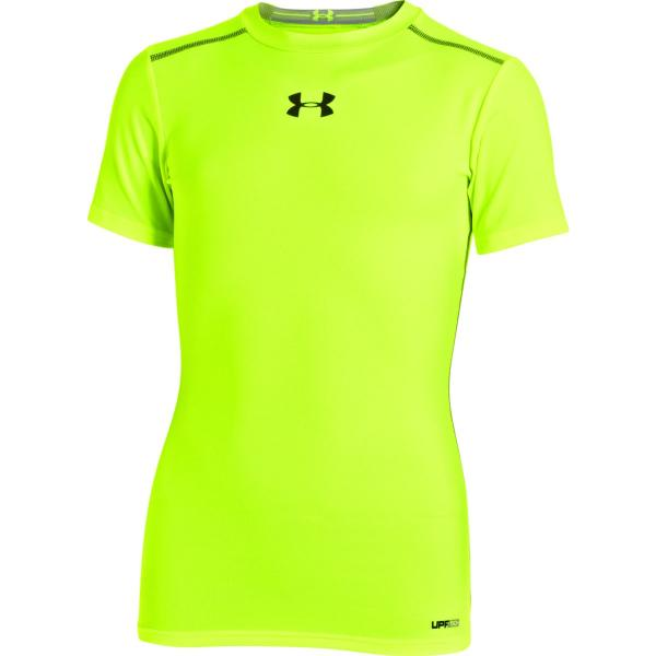 Under Armour Boys' HeatGear Sonic Fitted Short Sleeve T-Shirt