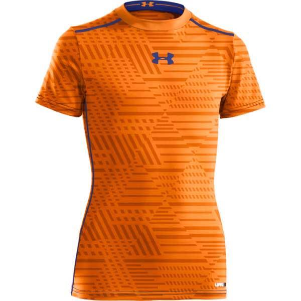 Blaze orange royal for Under armour men s heatgear sonic fitted t shirt