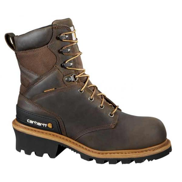 Carhartt Men's 8 Inch Waterproof Logger Non Safety Toe