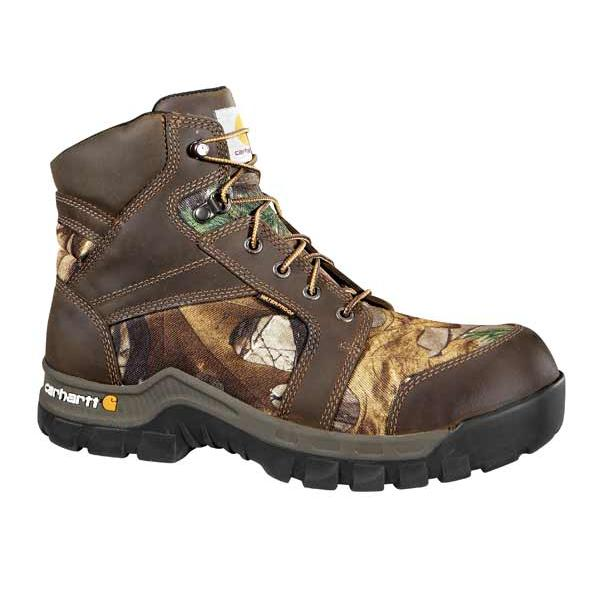 Carhartt Men's Work Flex 6 Inch Brown and Camo Rugged Flex Composite Toe