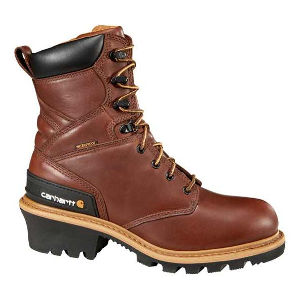 Carhartt Men's 8 Inch Redwood Waterproof Logger Boot Steel Toe