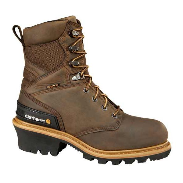 Carhartt Men's 8 Inch Waterproof Insulated Logger Boot Non Safety Toe