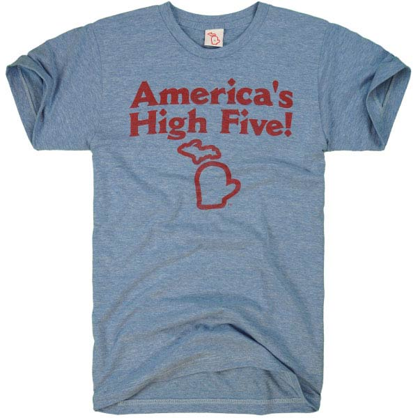 The Mitten State Men's Short Sleeve Tee Americas High Five