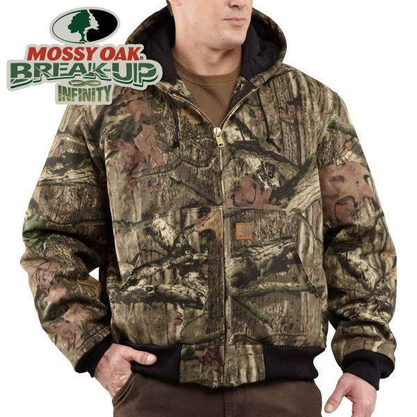 Carhartt Men's Quilted-Flannel Lined WorkCamo Active Jac-Discontinued Pricing